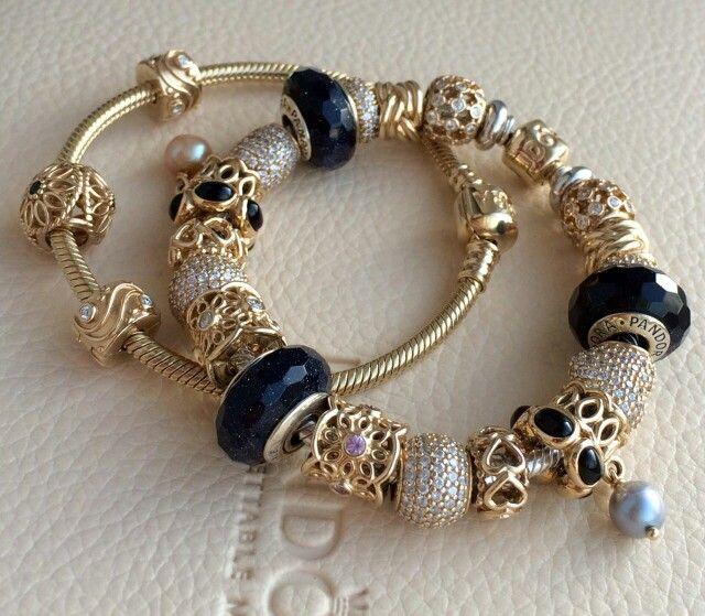 Pandora gold nugget charm