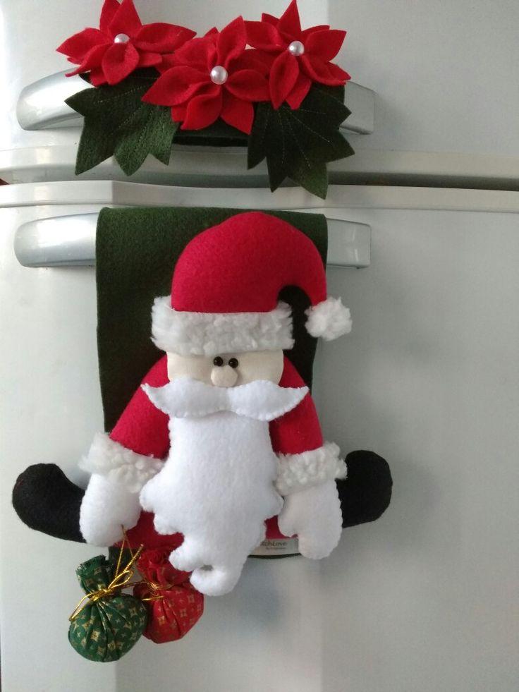 Enfeite de geladeira Papai Noel! Encomendas whatts app 51982063188