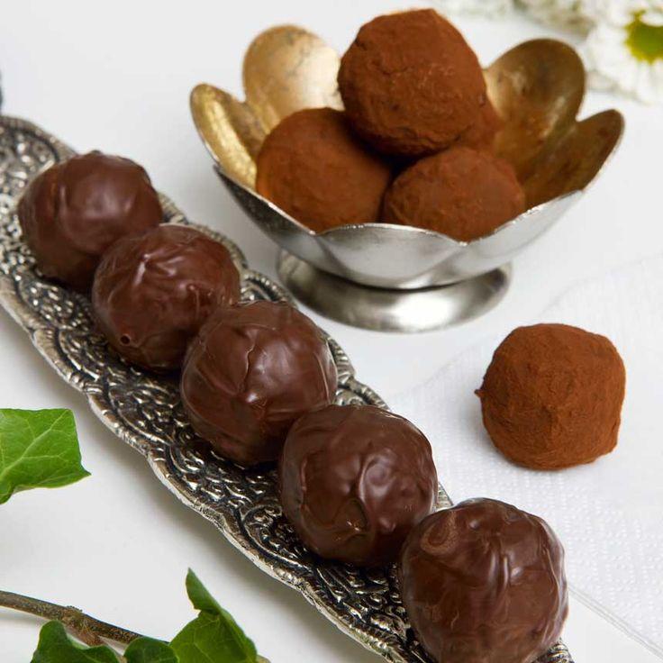 Moccatryffel är en chokladig läckerbit med smak av kaffe.