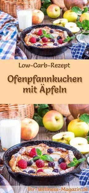 Pfannkuchen des kohlenhydratarmen Ofens mit Apfel – gesundes Rezept zum Frühstück