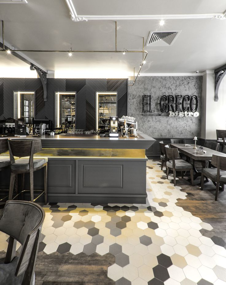 #tiles #warm #bistro #restaurant #craiova #design #interior #hospitality #hex #bar #2015   http://yellowoffice.ro/projects/elgreco