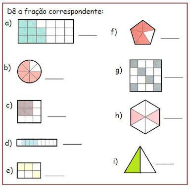 Resultado de imagem para atividade fração de quantidade