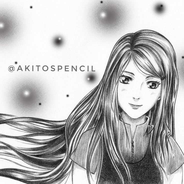 Kushina Uzumaki Fanart! The red thread of fate  Her hair is absolutely beautiful! I really love drawing her hair.  #pencil #naruto #narutoshippuden