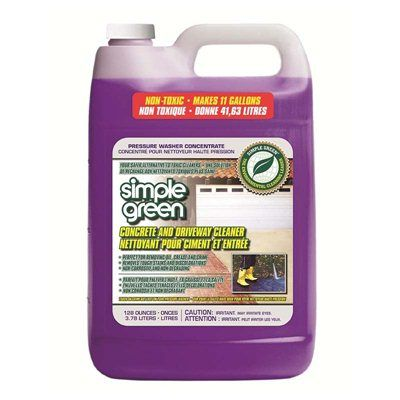 Simple green concrete driveway pressure washer for Cement pressure washer