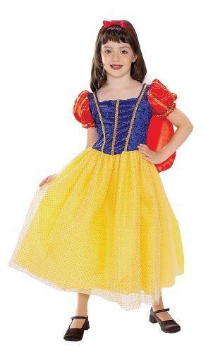 Snow White Costume, Toddler Rubie's Costume Co. $17.10. From the Manufacturer                A traditional fairytale come to life with this Snow White dress with attache cape.                                    Product Description                Rubies Snow White-3-4YSomeday her prince will come, but until then she'll be as cute as can be in this Snow White dress and cape. And it'll be a truly enchanting Halloween with a costume fit for a princess! Why You'l...