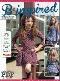 Freebook Kleid Scarlet - Größe 74 - 164