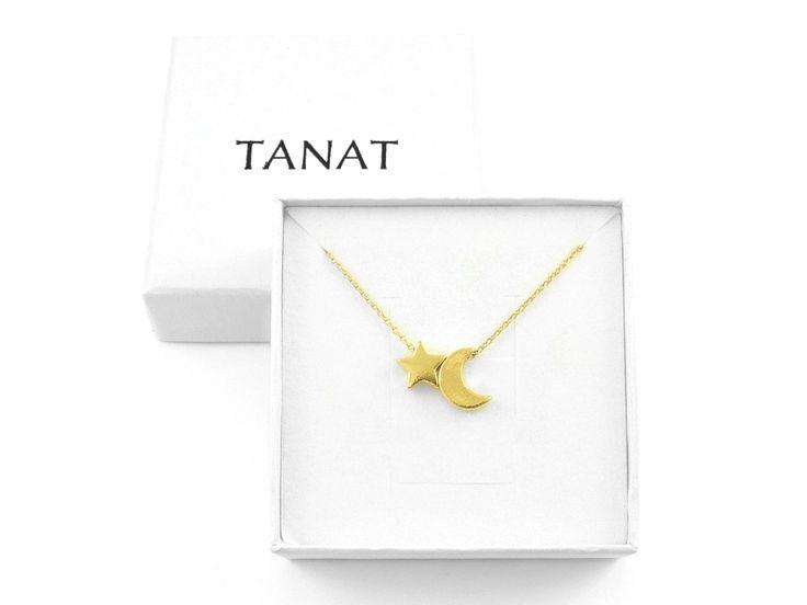 Pozłacany naszyjnik GWIAZDKA KSIĘŻYC. Gold MOON STAR necklace. http://www.tanat.eu/naszyjniki/1826-pz-naszyjnik-gwiazdka-ksiezyc.html