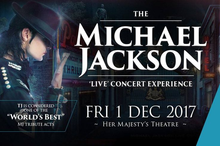My ONE & ONLY South Australia 2 hour production for 2017! The show will feature my ever talented cast of dancers and musicians staged in an exciting live concert tribute at Her Majesty's Theatre Adelaide. TICKETS ALMOST SOLD OUT - http://www.bass.net.au/events/michael-jackson-live/