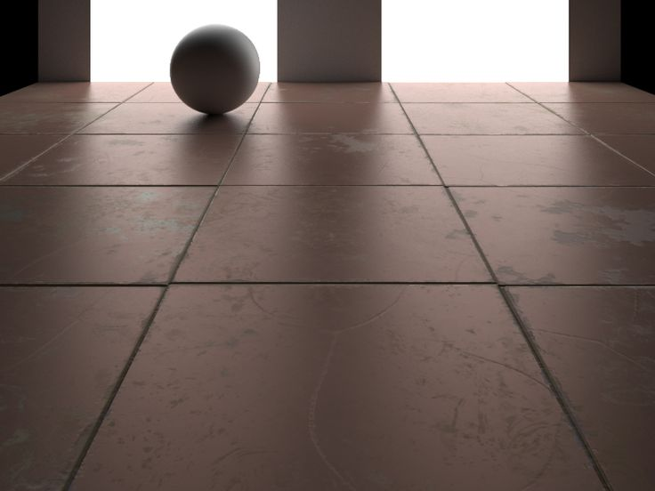 Tiled Floor with dirt