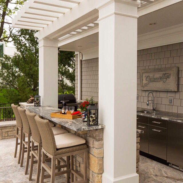 "Outdoor kitchens are so popular in sunny Florida - and why shouldn't they be? The weather is so enjoyable, especially during the ""winter"" months. When you're ready to design and build your custom Focus Home, would you like to include an outdoor kitchen and living space similar to this pic? Contact us to learn more:  http://FocusHomes.Co"