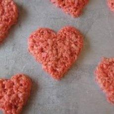Valentine's Day Pink Krispie Treat Hearts