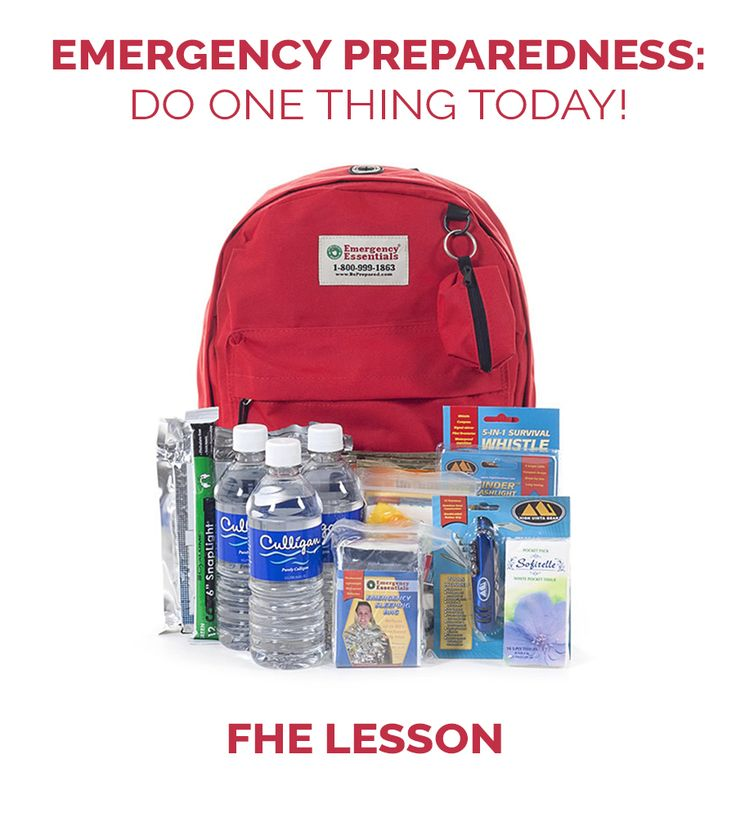 Emergency Preparedness FHE Lesson | Family Home Evening Lesson | Simplifies emergency preparedness for all ages! Plus really good resources to get started.