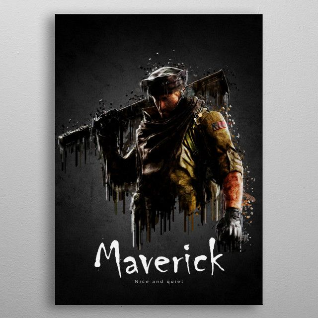 Maverick Gaming Poster Print Metal Posters With Images Metal