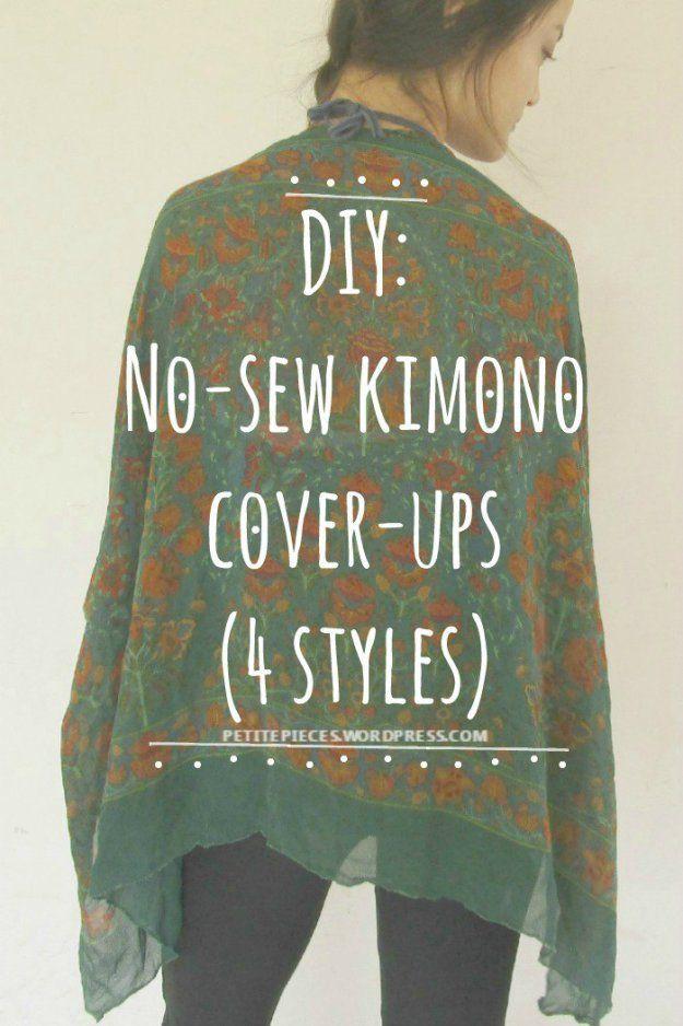DIY No-sew kimono cover-up... BY far best tutorial I've found.