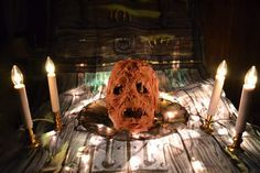 Boo Mama Genny: The Flesh Face Meat Skull, or…Well, Hell, That Pretty Much Says it All    Excerpted From: http://www.badmamagenny.com/2011/10/27/boo-mama-genny-the-flesh-face-meat-skull-or-well-hell-that-pretty-much-says-it-all/#ixzz2AkeKmjRd