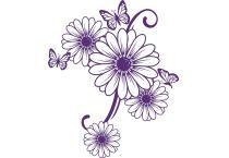 Blumen wandtattoos