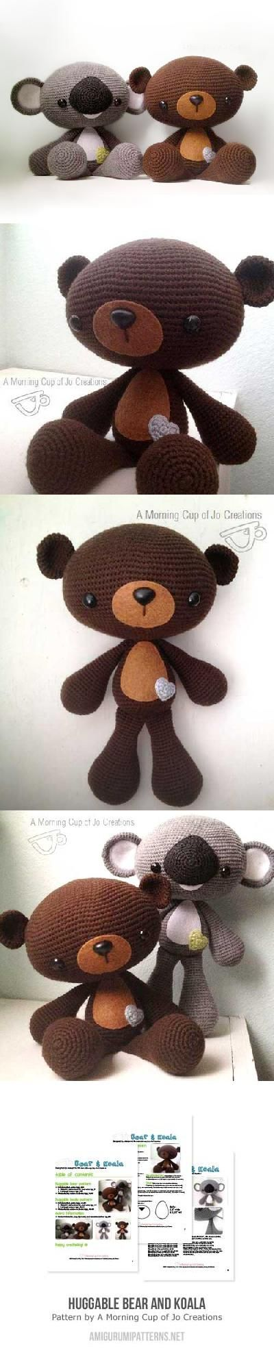 Huggable Bear And Koala Amigurumi Pattern