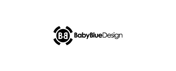 Baby Blue Design. Logo design by Antoine Chung.