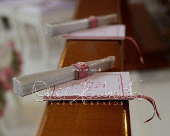 Libretto messa personalizzato e ventaglio per ospiti