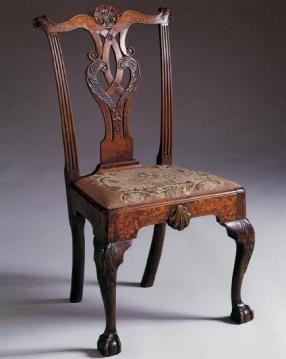 Philadelphia Chippendale side chair.