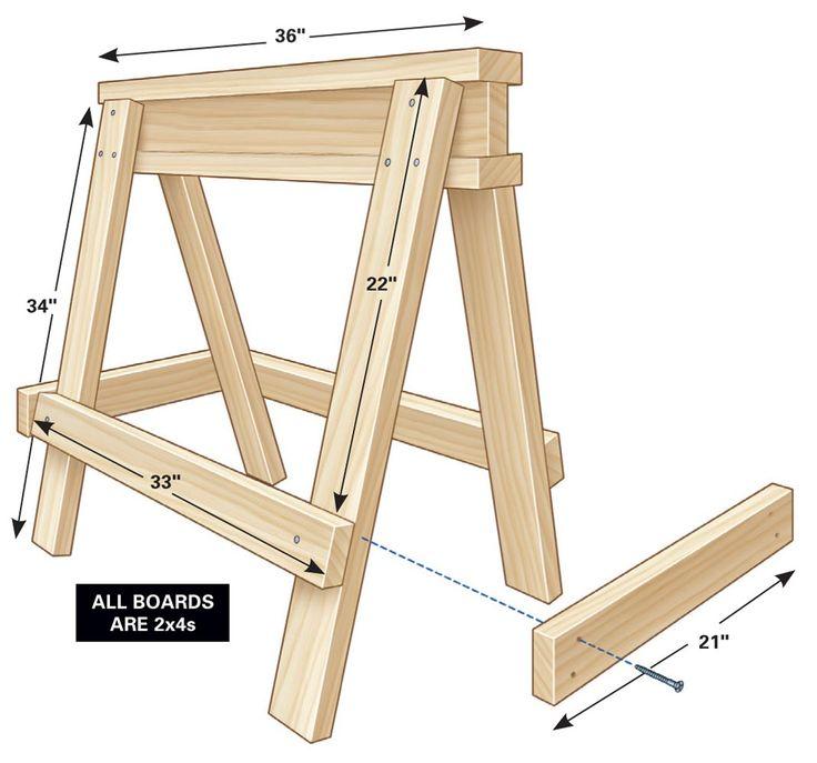 Sawhorse Plans | The Family Handyman