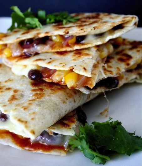 bbq black bean and corn quesadillas but i d probably just use black ...