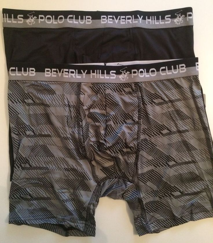 Beverly Hills Polo Club Mens Boxer Briefs - 2 Pack Large Gray And Black Msrp $32 #BeverlyHillsPoloClub #BoxerBrief