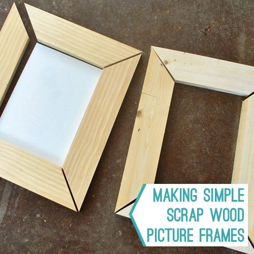 "Scrap wood picture frames... My husband wants to (eventually!) make one with the crib rails that show my son's teeth marks :) We'll put a picture in it from @ 1yr old/his hardcore ""teething days!"""
