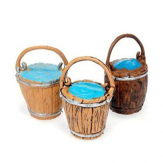 Secchi con acqua accessori presepi fai da te | vendita online su HOLYART
