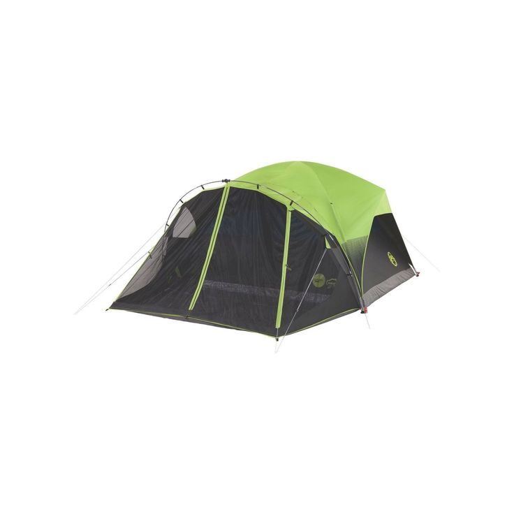 Coleman Carlsbad Fast Pitch 6-Person Dome Tent with Screen Room - Green, Black