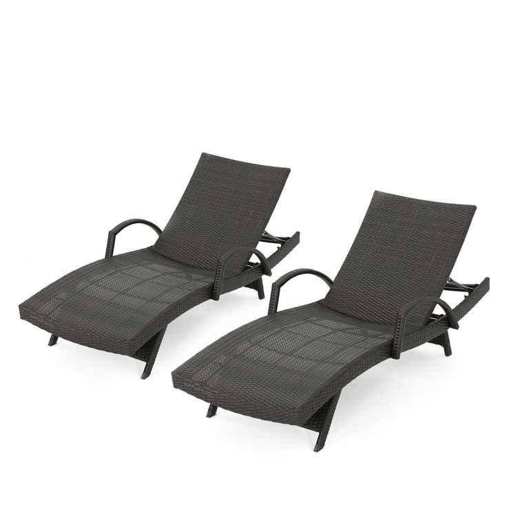 Carlsbad wicker chaise lounge with arms set of 2 teal