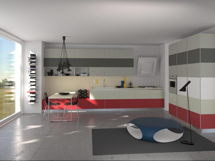 Tetrix by Micheal #Young #Scavolini #kitchen #Livingroom Colour Kit K17