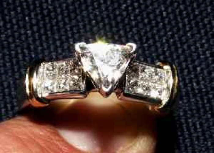 9 best Trillion Cut Diamond Wedding Rings images on Pinterest