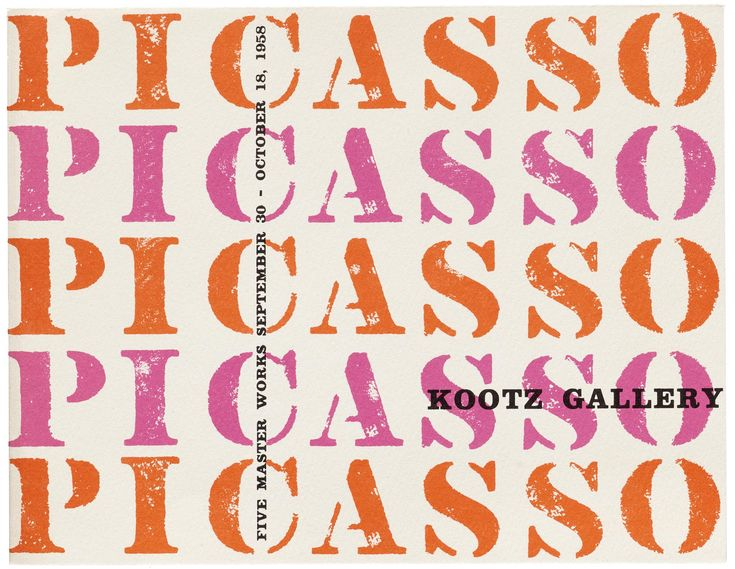 This catalog for a Picasso exhibition at the Kootz Gallery in 1958 uses Clarendon, decorated with stencil-like lettering.  Clarendon name inspired by Clarendon Press in Oxford Press font designed by Robert Besley inspired by wood-carved Example: SONY, Bank Wells Fargo, Spanish newspaper <El Pais> national park sign board
