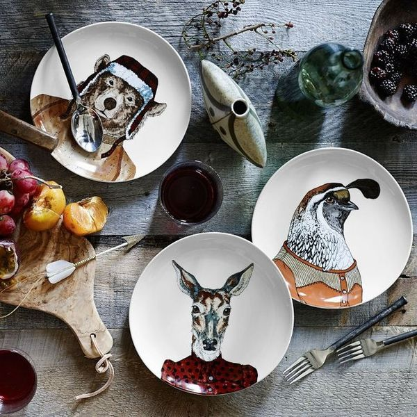 These Dapper Animal Plates are a Well-Dressed Addition to Any Party #dinnerware #entertaining trendhunter.com