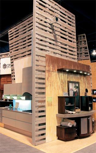 Exhibit Booth Made From Pallets