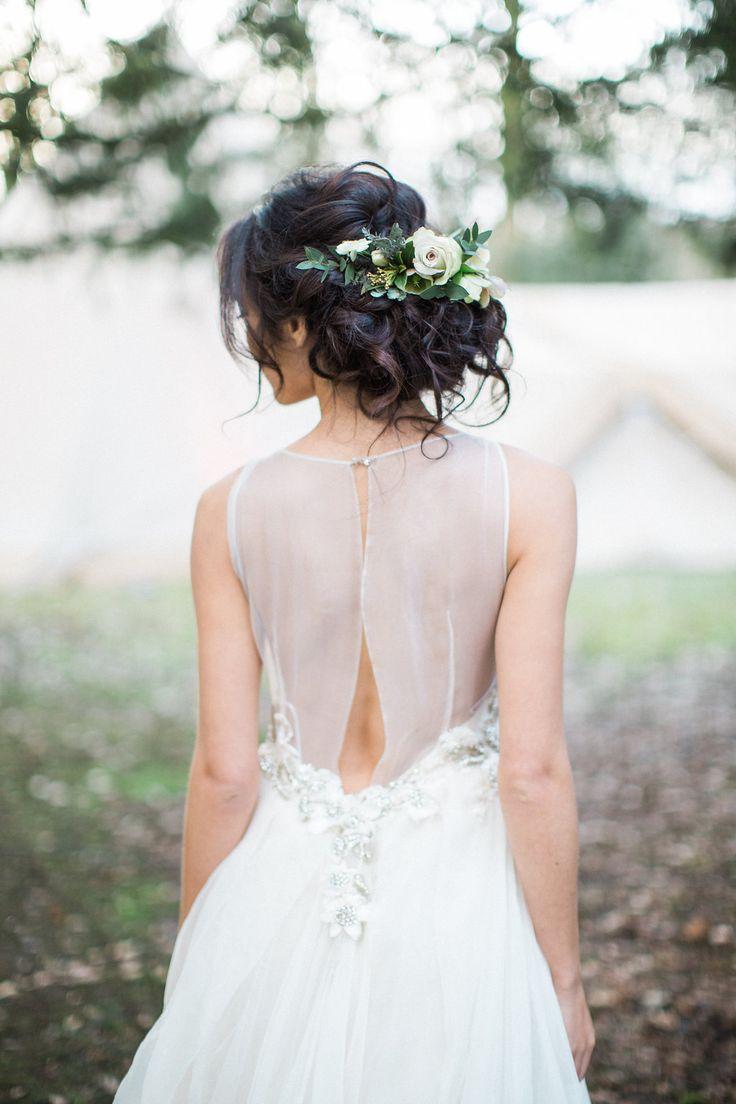 Tousled Bridal up do