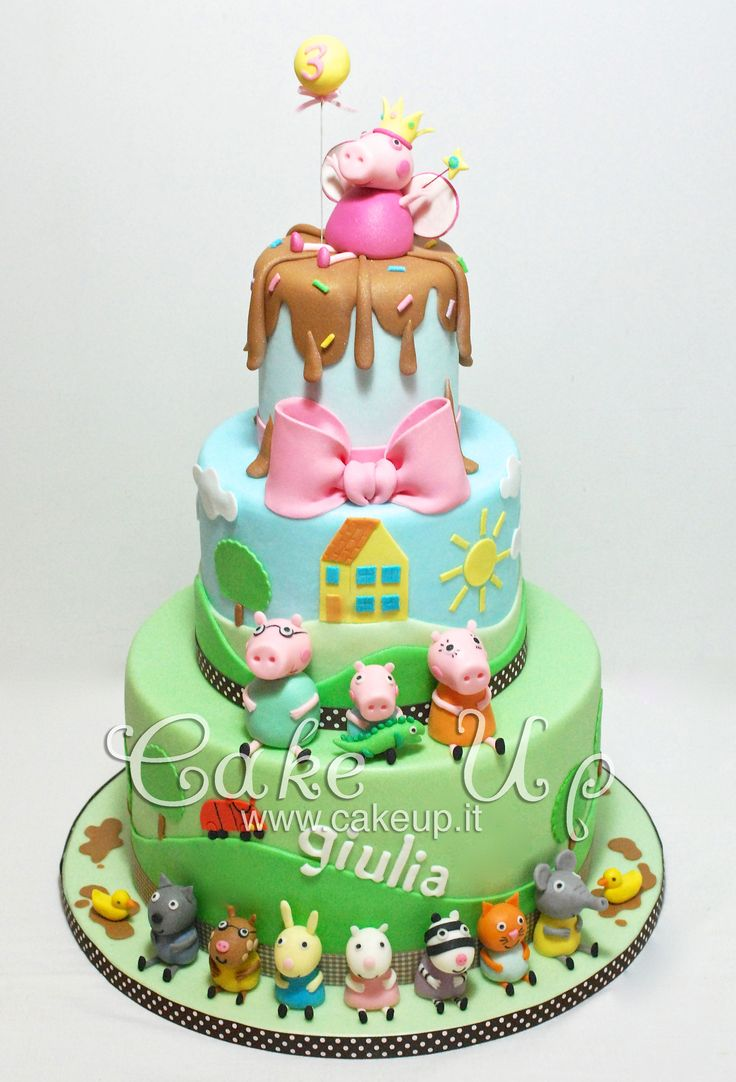 PEPPA PIG FAMILY AND FRIENDS CAKE