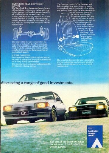 XE Fairmont Ghia ESP and Fairmont 1983