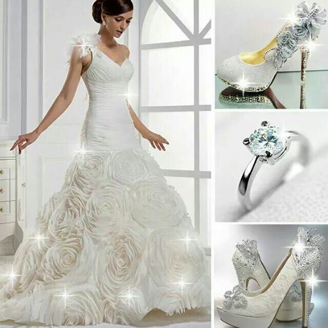 Brillo estelar Hermoso vestido y accesorios digno de una novia Glamurosa