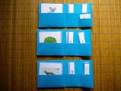 Album Montessori en ligne sur le blog : comment présenter la série bleue des pochettes de lecture