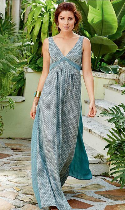 Les impressions mosaïques, robe longue