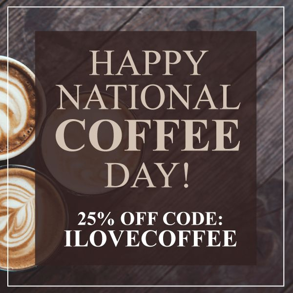 Happy National Coffee Day! Use 25% off code: ILOVECOFFEE on top of our sale prices!    . . #shopsmall #brewedawakenings #coffee #coffeeeverything #sale  #Coffeetime #Coffeeaddict #Coffeeshop #Coffeelover #ButFirstCoffee #Coffeelove #CoffeeIsLife #Coffeebreak #Barista #Coffeebean