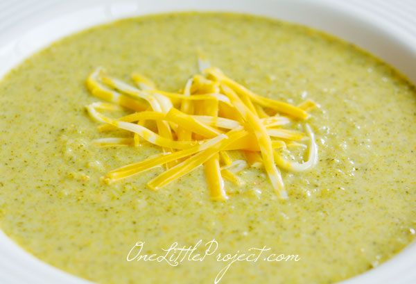 Cream of broccoli soup - a delicious and healthy recipe, especially when you use milk instead of cream and don't add loads of cheese.