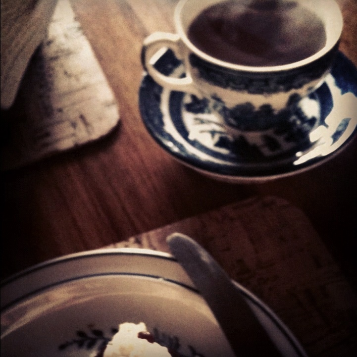 blue and white tea set, a quiet moment in the studio last week.