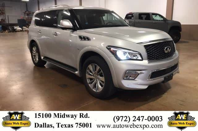 This vehicle is perfect for anyone who needs luxury and space. The third row seats are automatic and the middle row bolsters a console and captains chairs. The features include memory seats, heated seats / steering wheel, navigation, backup camera with park assist, moonroof, and 4 wheel drive.  https://deliverymaxx.com/DealerReviews.aspx?DealerCode=J789  #Infinity #SUV #luxury #qx80 #dallas # #AutoWebExpoInc