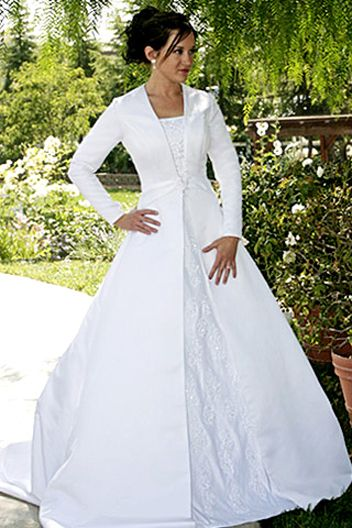 Wedding Formal Occasion Accessories Long Sleeve Plus Size Modest Dress Gown Brand New 28 White Wedho The Right Way Clothing