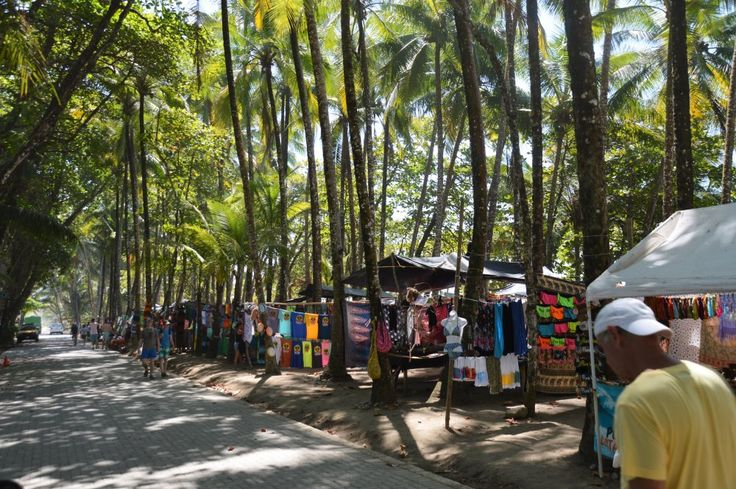 Souvenir shopping on the beach in Dominical. Check out our list of 7 things to do in Dominical, Costa Rica.