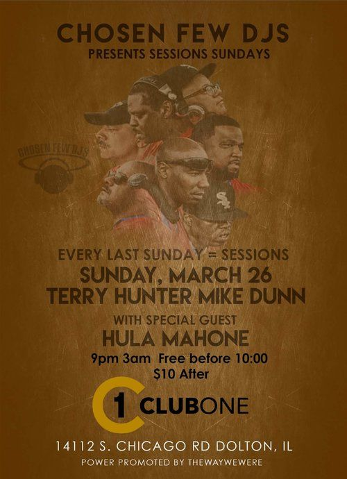 Sessions Sunday's Featuring Terry Hunter & Mike Dunn w/Special Guest Hula Mahone — Black Widows Web