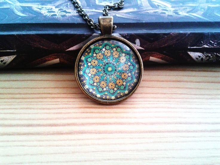 Zöld Mandala (mandala, jewerly, vintage, fashion, DIY)
